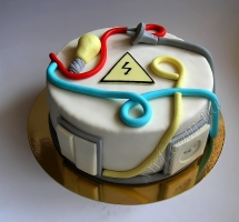 мастичный торт электрику