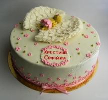 мастичный торт крестины