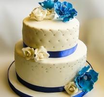 торт мастичный свадебный