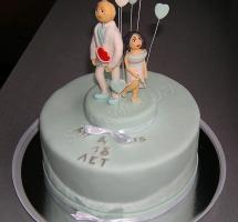мастичный торт свадьба