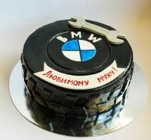 мастичный торт BMW