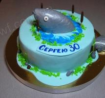 мастичный торт рыбаку