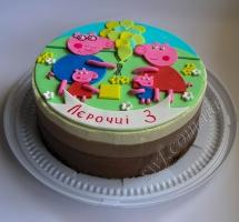 муссовый торт с апликацией