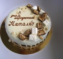 кремовый торт с маршмэллоу
