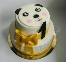 торт мастичный для детей панда