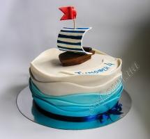 торт мастичный для детей кораблик