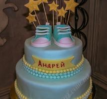 мастичный торт со звездами