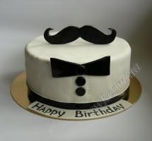 мастичный торт смокинг