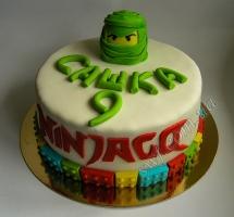 торт мастичный для детей ninjago