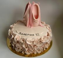 торт мастичный для детей балерина
