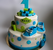 торт мастичный для детей на годик
