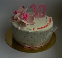 мастичный торт на годовщину