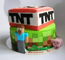 торт minecraft (майнкрафт)