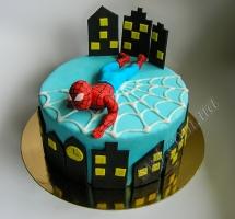 торт мастичный для детей Spidrman