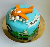 торт мастичный для детей самолеты