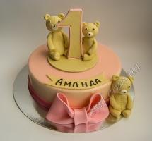 торт мастичный для детей мишки