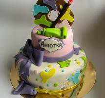 торт мастичный для детей художник