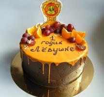 кремовый торт лев
