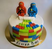 торт мастичный для детей нинзяго