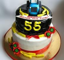 мастичный торт трактористу