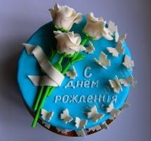 торт розы бабочки