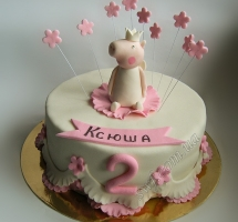 торт мастичный для детей Пеппа