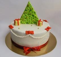 мастичный торт елочка