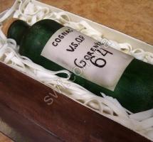 мастичный торт бутылка