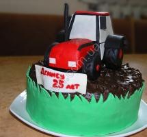 мастичный торт трактор