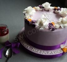 торт цветочный