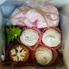 набор сладостей ко дню Святого Николая в коробочке с ленточкой