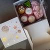 набор сладостей ко дню Святого Николая в красивой стлизованной коробочке с ленточкой