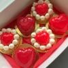 муссовые пирожные ко дню св. Валентина